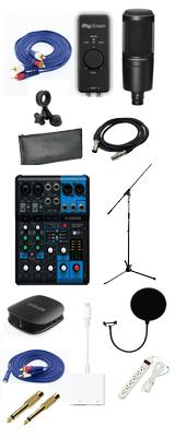 【初心者向け  トーク・雑談 スマホ配信入門一式セット】  YAMAHA(ヤマハ) / audio-technica AT2020 / MG06X / コンデンサーマイク  オーディオインターフェース 【Bluetooth対応】