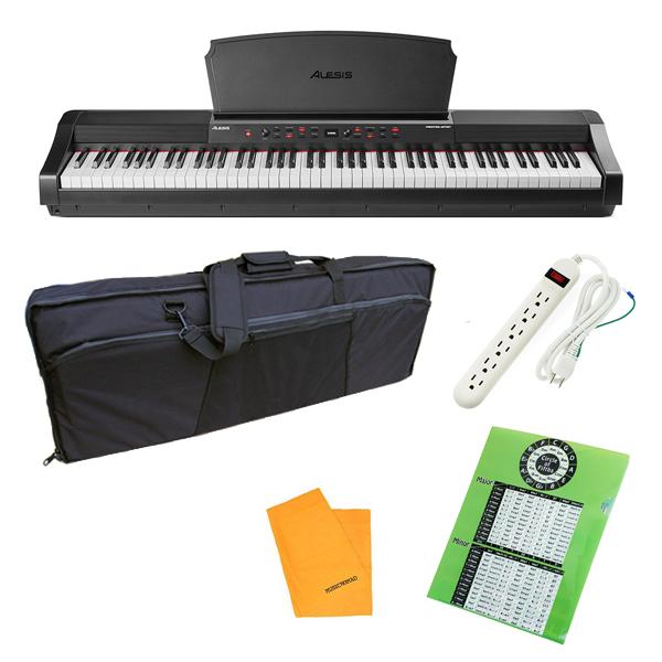 【ケースセット】 ALESIS(アレシス) / Prestige Artist スピーカー内蔵 88鍵 ハンマーアクション鍵盤 電子ピアノ・MIDIキーボード 【サステインペダル、譜面台 付属】【6月3日(木)発売】