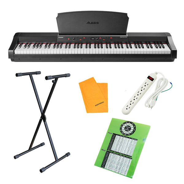 【X型スタンドセット】 ALESIS(アレシス) / Prestige Artist スピーカー内蔵 88鍵 ハンマーアクション鍵盤 電子ピアノ・MIDIキーボード 【サステインペダル、譜面台 付属】【6月3日(木)発売】