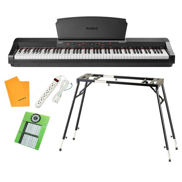 【テーブル型スタンドセット】 ALESIS(アレシス) / Prestige Artist スピーカー内蔵 88鍵 ハンマーアクション鍵盤 電子ピアノ・MIDIキーボード 【サステインペダル、譜面台 付属】【6月3日(木)発売】