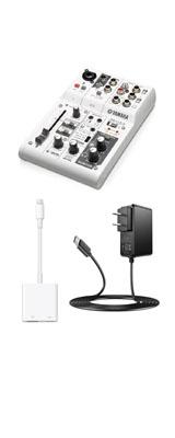 【スマホ配信基本セット】 YAMAHA(ヤマハ) / AG03 / iPhone iPad対応 オーディオインターフェース   ミキサー