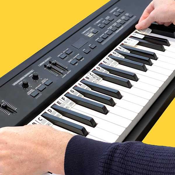 ピアノ 鍵盤 キーボード / 35キー分 / 音階 音符 練習 マーカー (シリコン製)  ※白鍵のみ対応 【輸入品】