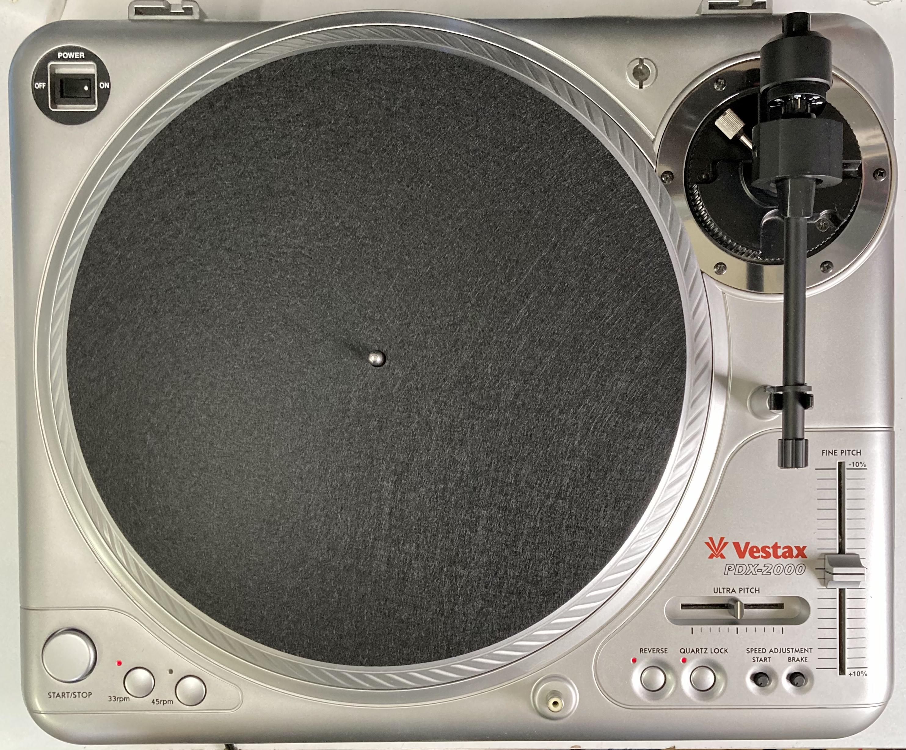 [安心のメンテナンス/カスタム済USED] Vestax PDX-2000 シルバー(インシュレーター改善品) 【6ヶ月保証付き】 TT-0088