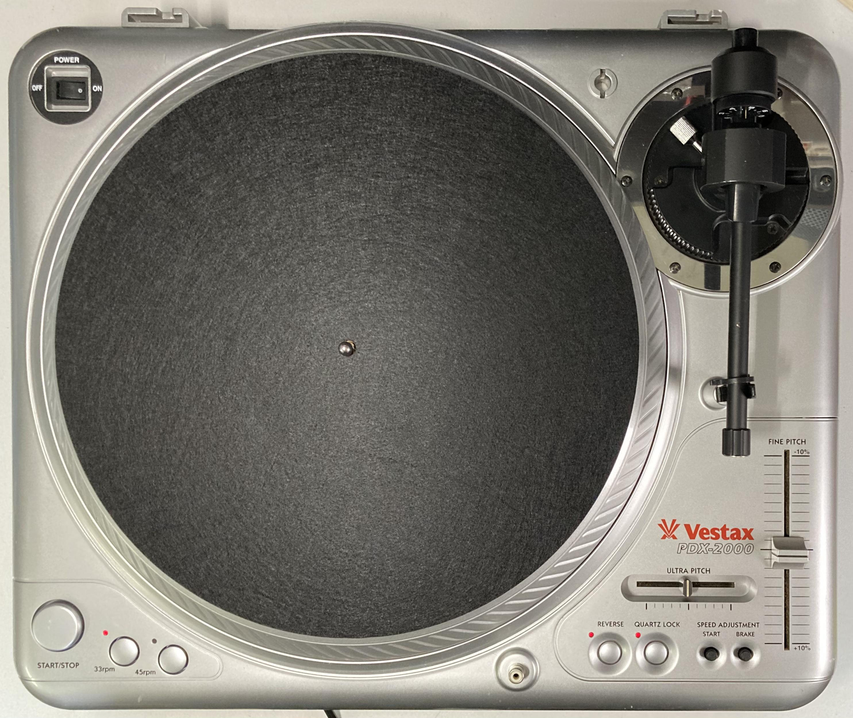 [安心のメンテナンス/カスタム済USED] Vestax PDX-2000 シルバー(インシュレーター改善品) 【6ヶ月保証付き】 TT-0089