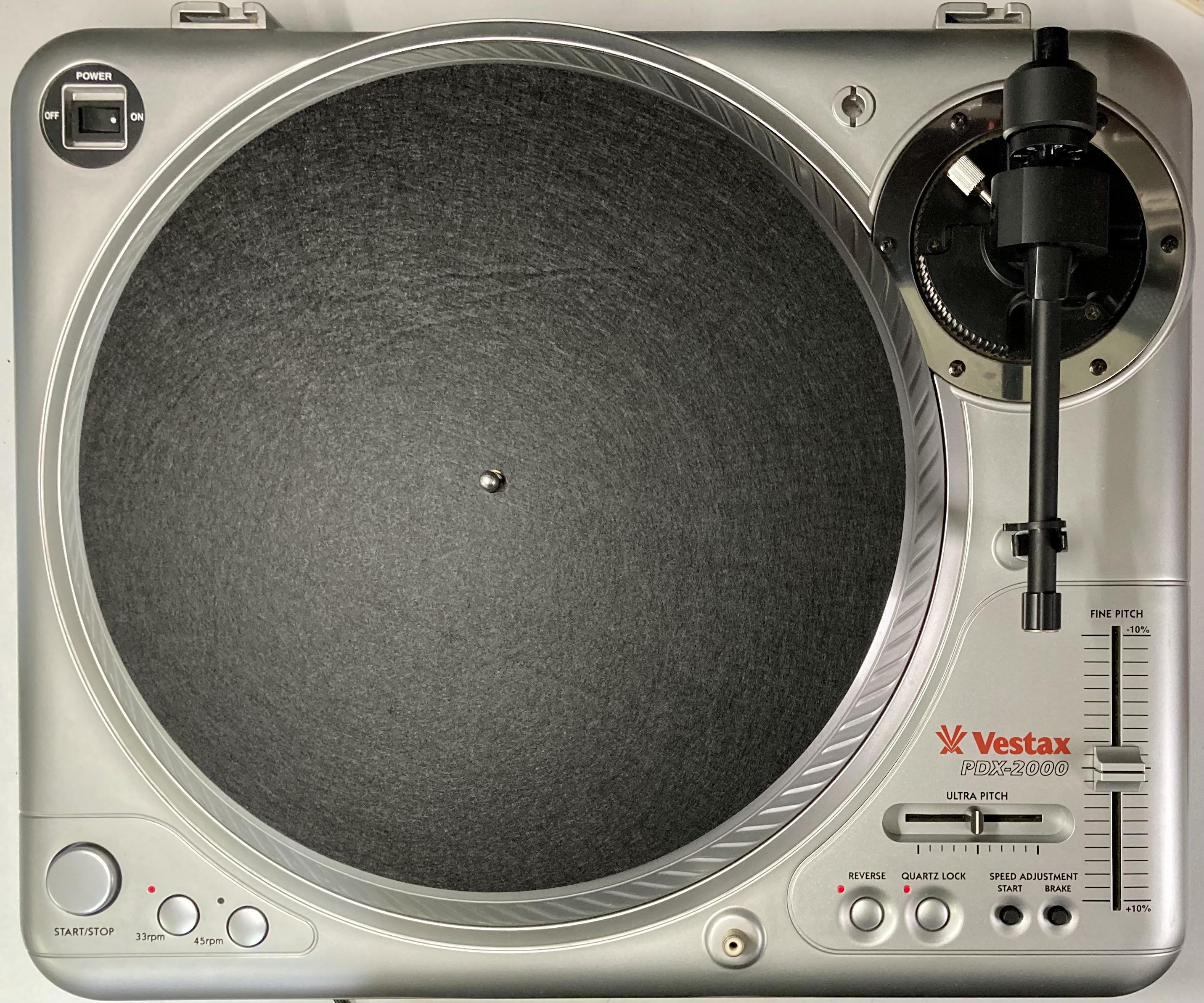 [安心のメンテナンス/カスタム済USED] Vestax PDX-2000 シルバー (インシュレーター改善品)【6ヶ月保証付き】 TT-0090