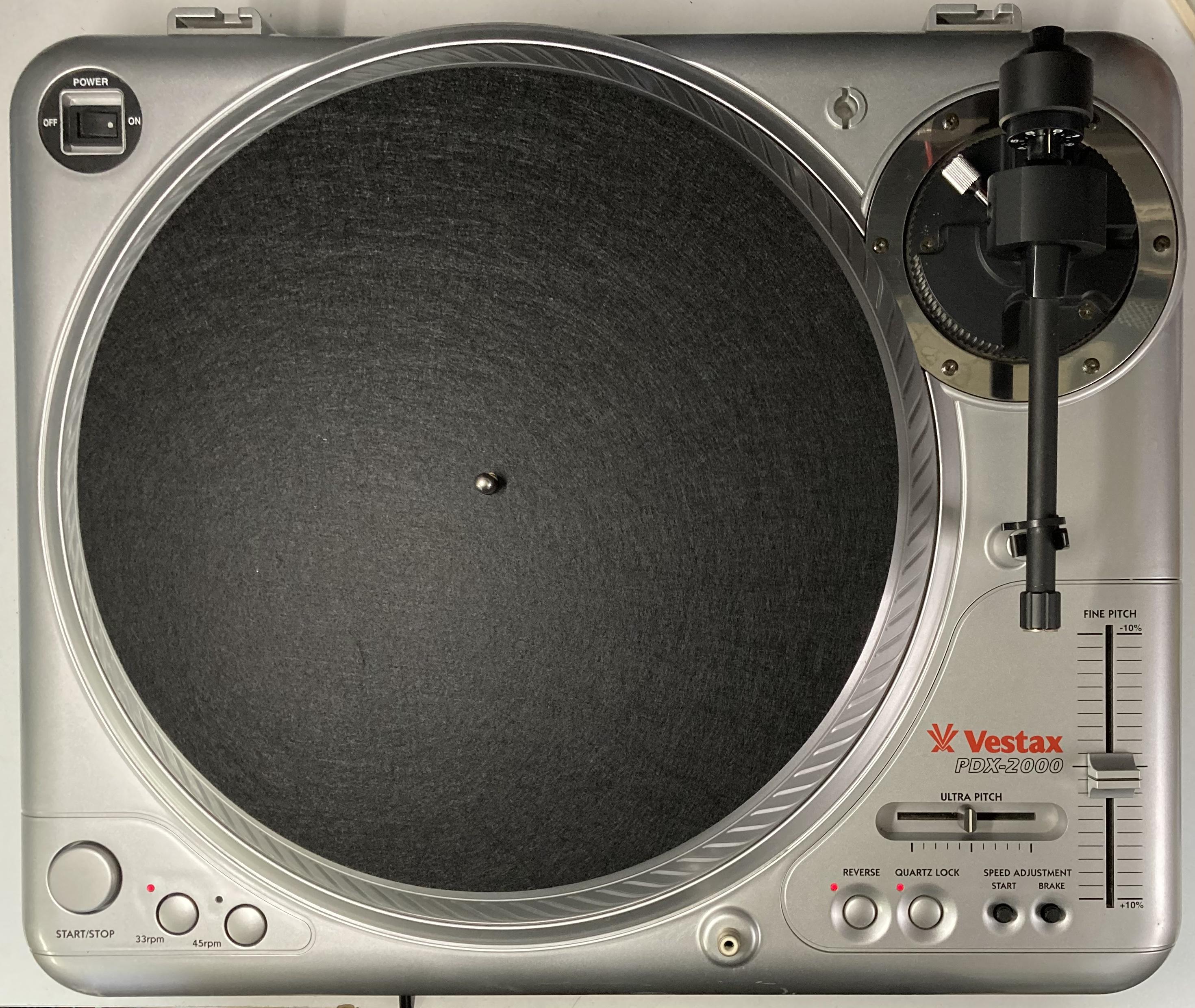 [安心のメンテナンス/カスタム済USED] Vestax PDX-2000 シルバー (インシュレーター改善品)【6ヶ月保証付き】 TT-0091