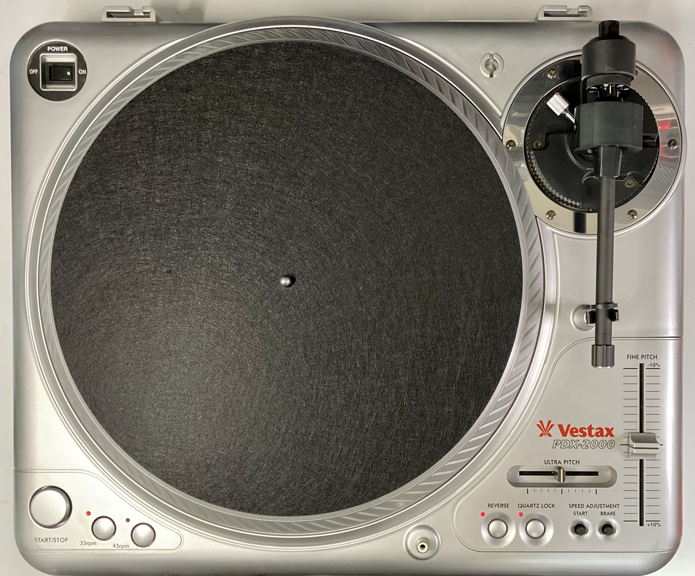 [安心のメンテナンス/カスタム済USED] Vestax PDX-2000 シルバー(インシュレーター改善品) 【6ヶ月保証付き】 TT-0097