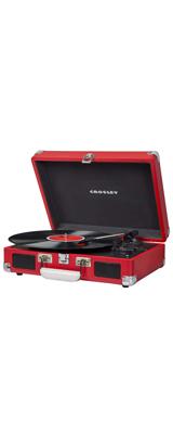 Crosley(クロスレイ) / CR8005D-RE / Cruiser Deluxe (Red) / Bluetooth対応 ポータブル レコードプレイヤー 【輸入品】