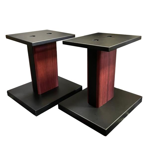【安心の国内サポート】 【高重量8キロ/高音質設計】 モニタースピーカースタンド 木製MDF  卓上 【ペア販売】【高さ31cm】  Euro Style / ESS-3384S