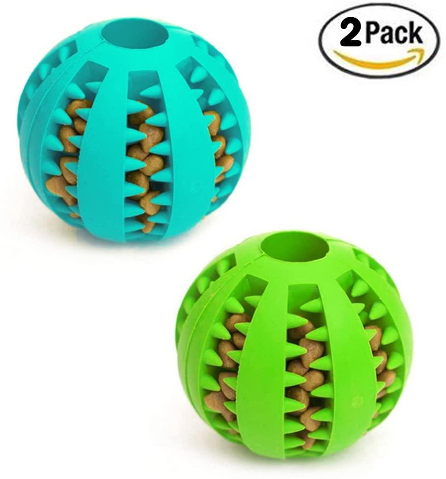 idepet(アイディーイーペット) / 犬のおもちゃボール (2個1セット) 歯のクリーニングボール 8センチ 3.15 inch (Pack of 2)