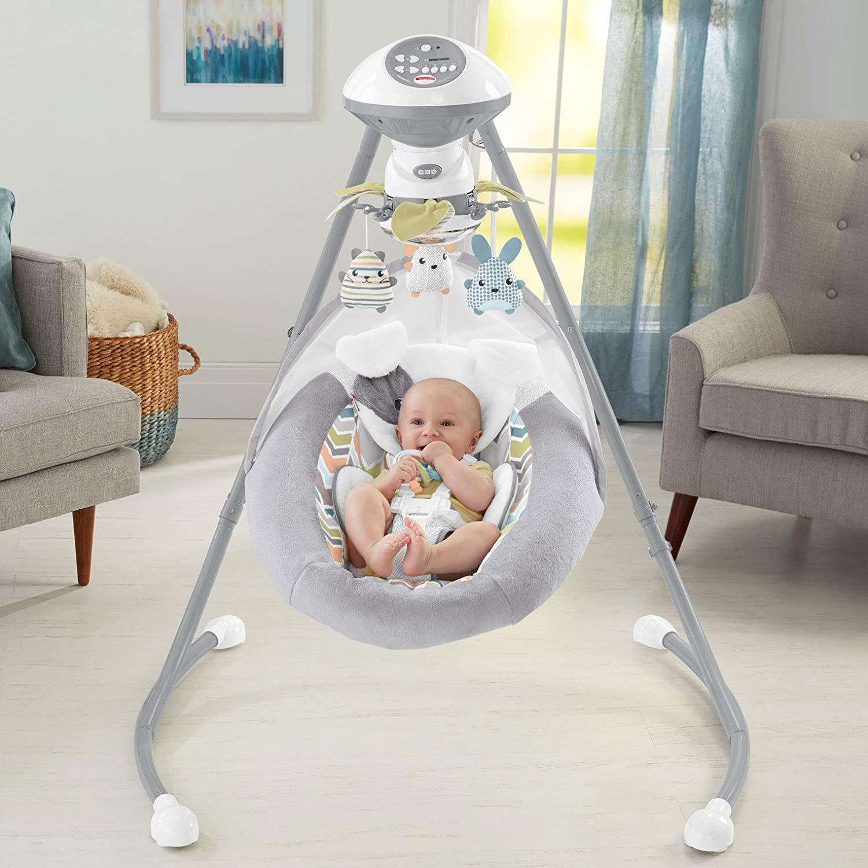 Fisher Price(フィッシャープライス) / Sweet Snugapuppy Swing, 赤ちゃん子守 デュアルモーション・ベビースウィング(音楽、サウンド、モーター付きモービル付き