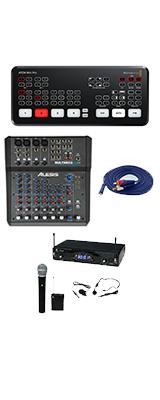 【KWSワイヤレスマイク配信セット】 Blackmagic Design / ATEM Mini Pro / エンコーダー内蔵 ライブプロダクション スイッチャー 大特典セット