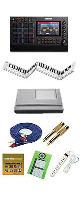 【88鍵盤セット】 AKAI(アカイ) / MPC LIVE2 [スタンドアローン型MPC] 充電式バッテリー・スピーカー内蔵 /  ドラムマシン サンプラー 2大特典セット