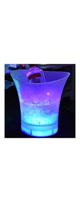 光る ボトルクーラー アイスペール マルチカラー 5L 電池式 LED 【輸入品】