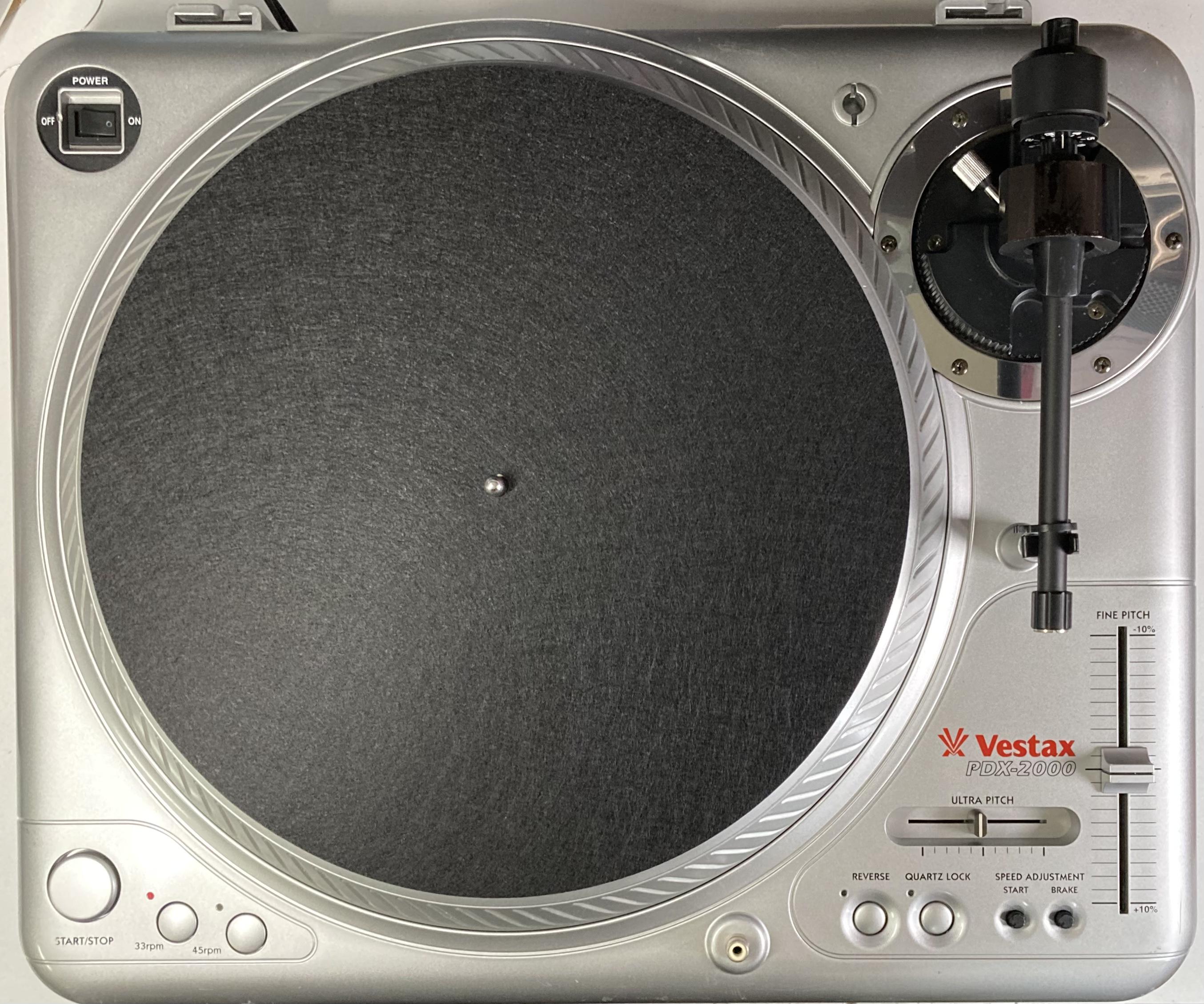 [安心のメンテナンス/カスタム済USED] Vestax PDX-2000 シルバー(インシュレーター改善品) 【6ヶ月保証付き】 TT-0103