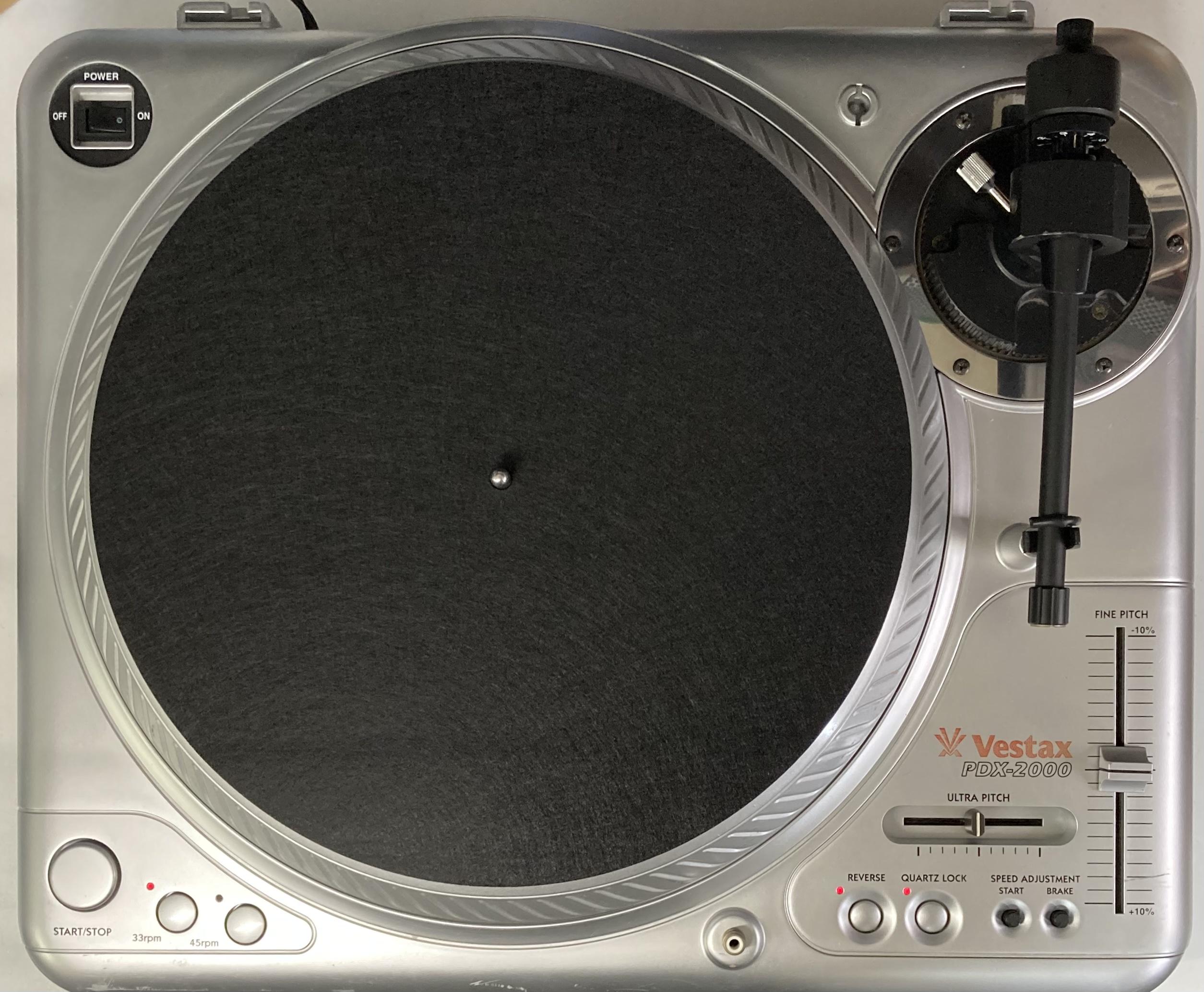 [安心のメンテナンス/カスタム済USED] Vestax PDX-2000 シルバー(インシュレーター改善品) 【6ヶ月保証付き】 TT-0104