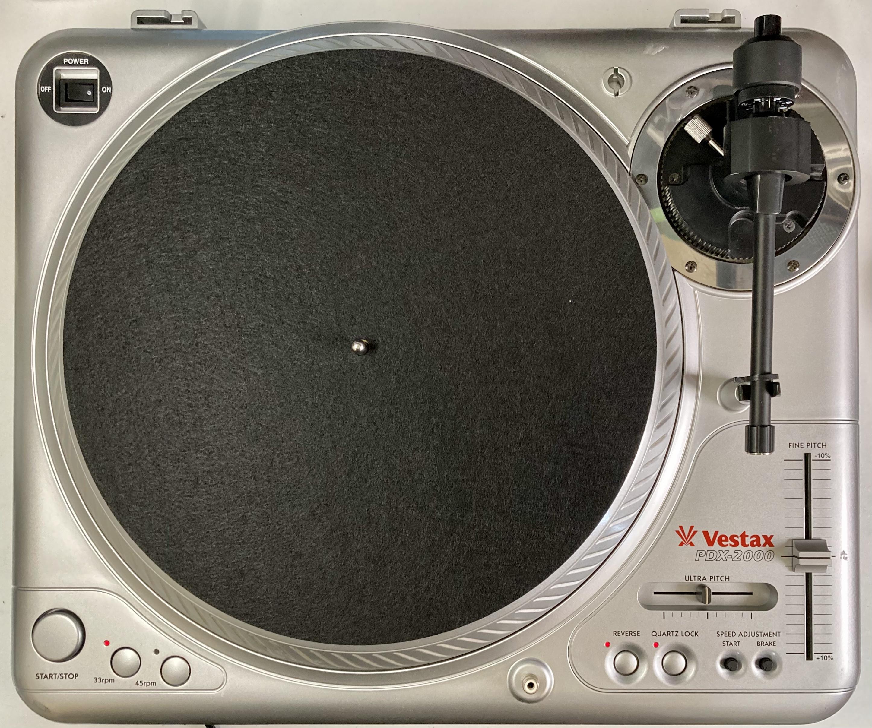 [安心のメンテナンス/カスタム済USED] Vestax PDX-2000 シルバー(インシュレーター改善品) 【6ヶ月保証付き】 TT-0106