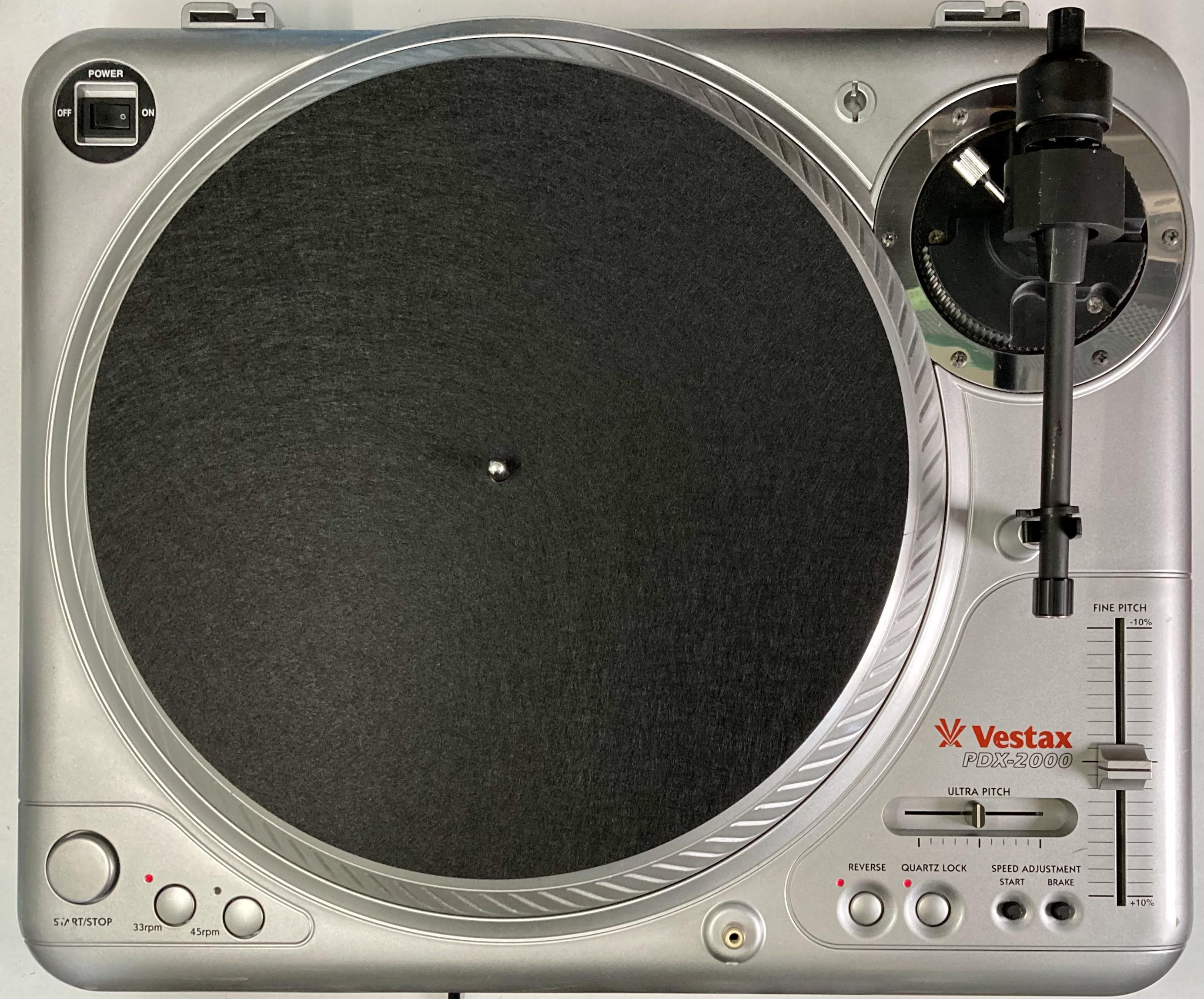 [安心のメンテナンス/カスタム済USED] Vestax PDX-2000 シルバー(インシュレーター改善品) 【6ヶ月保証付き】 TT-0107