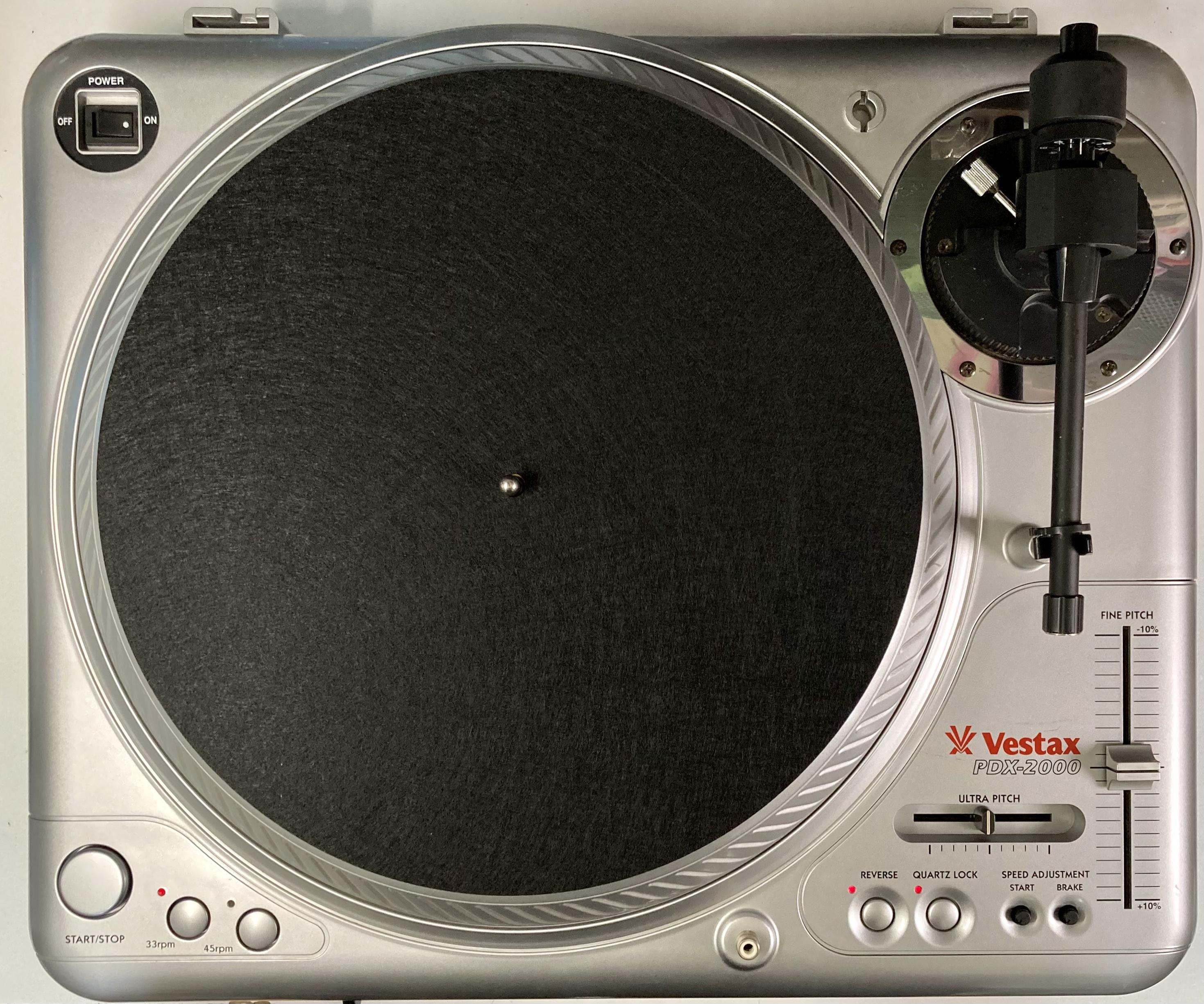 [安心のメンテナンス/カスタム済USED] Vestax PDX-2000 シルバー(インシュレーター改善品) 【6ヶ月保証付き】 TT-0108