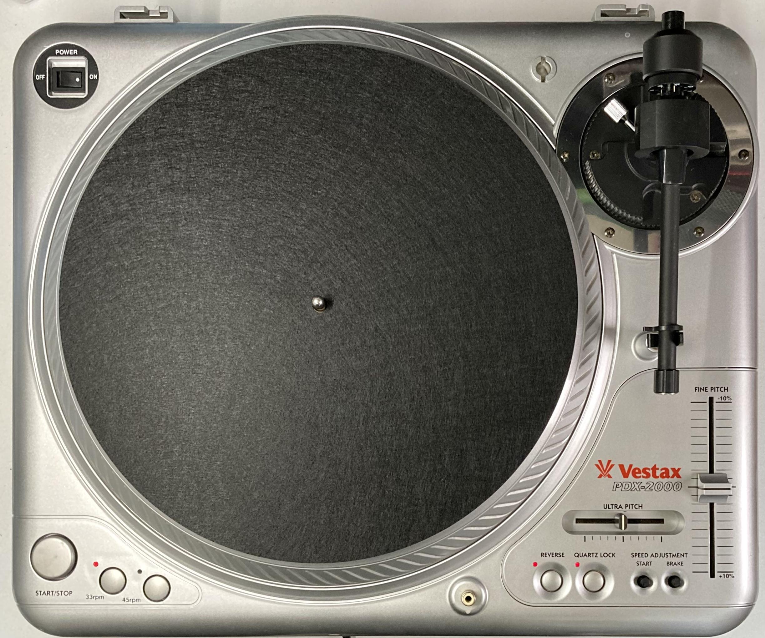[安心のメンテナンス/カスタム済USED] Vestax PDX-2000 シルバー(インシュレーター改善品) 【6ヶ月保証付き】 TT-0109
