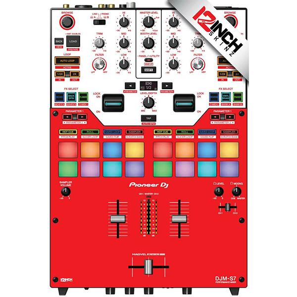 ■ご予約受付■ 12inch SKINZ / RED / Pioneer DJM-S7用 スキン