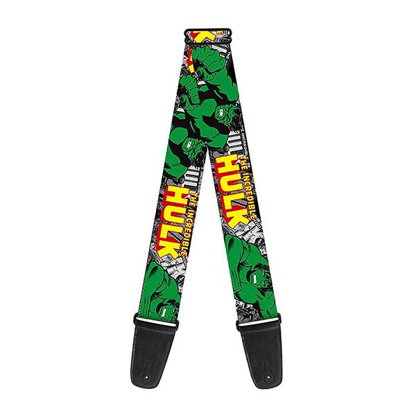 Buckle Down(バックルダウン) / The Incredible Hulk Action Poses ハルク 【MARVEL マーベル公式ライセンス品】 ギターストラップ