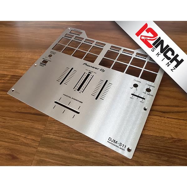 12inch SKINZ / Pioneer DJM-S11 Stainless Steel Fader Plate / スキンプレート