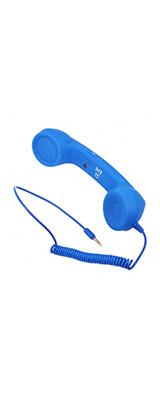 受話器型ヘッドセット ミニマイクスピーカー イヤホン スマホ iphone Android 電話受信機 / ブルー
