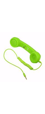 受話器型ヘッドセット ミニマイクスピーカー イヤホン スマホ iphone Android 電話受信機 / グリーン