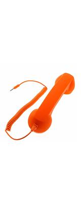 受話器型ヘッドセット ミニマイクスピーカー イヤホン スマホ iphone Android 電話受信機 / オレンジ