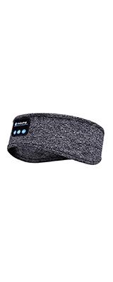 Rondaful / ヘッドバンド (Light Grey) Bluetooth ヘアバンド スピーカー内臓 睡眠イヤホン アイマスク USB充電 洗える 伸縮性 汗止め