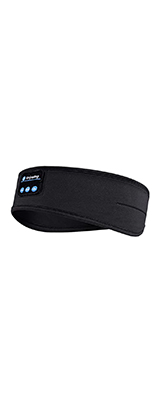 Rondaful / ヘッドバンド (Black) Bluetooth ヘアバンド スピーカー内臓 睡眠イヤホン アイマスク USB充電 洗える 伸縮性 汗止め