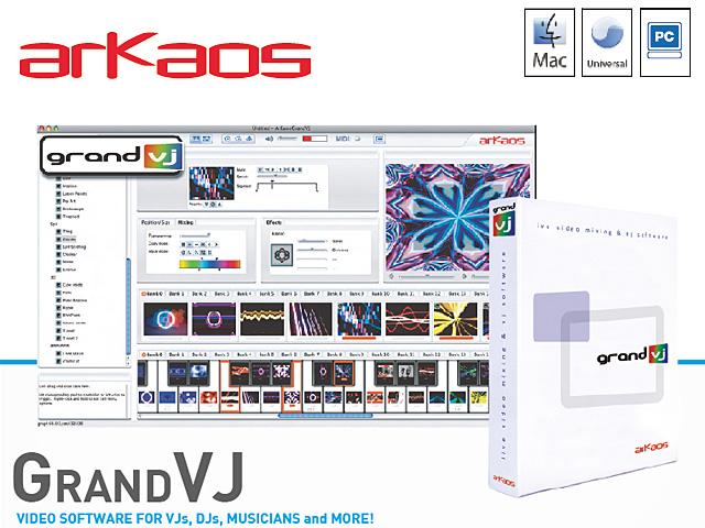 ArKaos(アルカオス) / GrandVJ  ■限定セット内容■→ 【・OV-X8 】