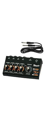 TECH / TM-4 -4chマイクロミキサー- 《 電池駆動 電池、ACアダプタは別売り  》