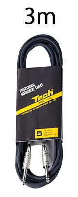 TECH(テック) / RT-3 楽器 ・ 機材用 ケーブル TS フォン 3m