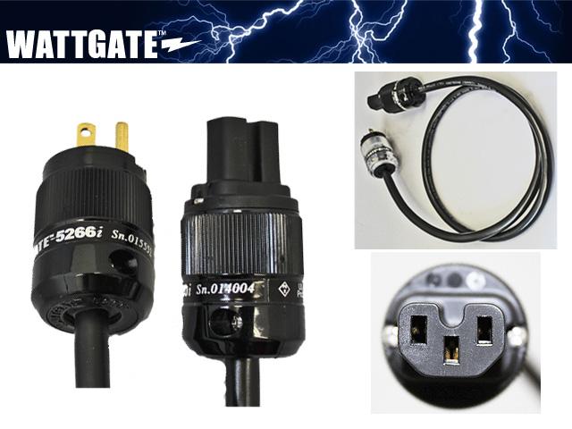 シールド電源ケーブル(WATTGATE)黒色プラグ