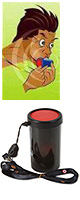 レゲエホーン - ストラップタイプ (Black) 【ジャマイカ国旗デザインステッカープレゼント】 1大特典セット