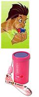 レゲエホーン - ストラップタイプ (Pink) 【ジャマイカ国旗デザインステッカープレゼント】 1大特典セット