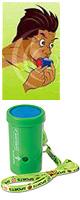 レゲエホーン - ストラップタイプ (Green) 【ジャマイカ国旗デザインステッカープレゼント】 1大特典セット