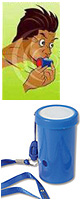 レゲエホーン - ストラップタイプ (Blue) 【ジャマイカ国旗デザインステッカープレゼント】 1大特典セット