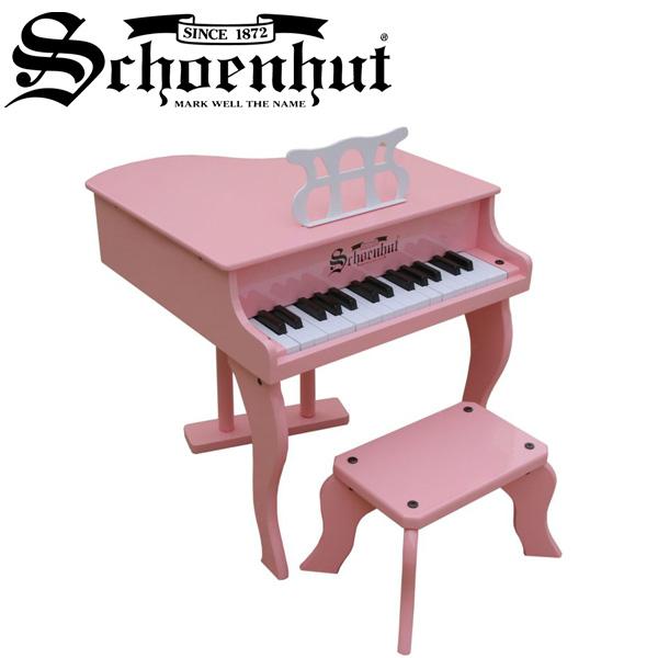 Schoenhut(シェーンハット) / Fancy Baby Grand (Pink) ベンチ付き 30鍵盤 トイピアノ