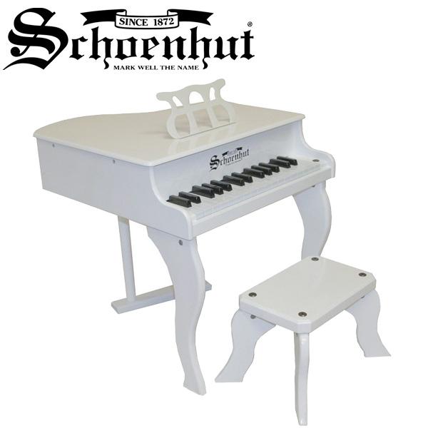 Schoenhut(シェーンハット) / Fancy Baby Grand (White) ベンチ付き 30鍵盤 トイピアノ