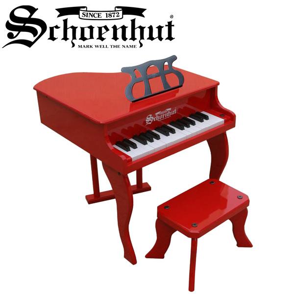 Schoenhut(シェーンハット) / Fancy Baby Grand (Red) ベンチ付き 30鍵盤 トイピアノ