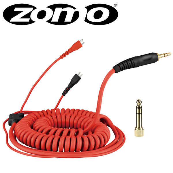Zomo(ゾモ) / Spiral Cord DeLuxe for Sennheiser HD 25 (Red / 3.5m) 交換用カールコード・ケーブル