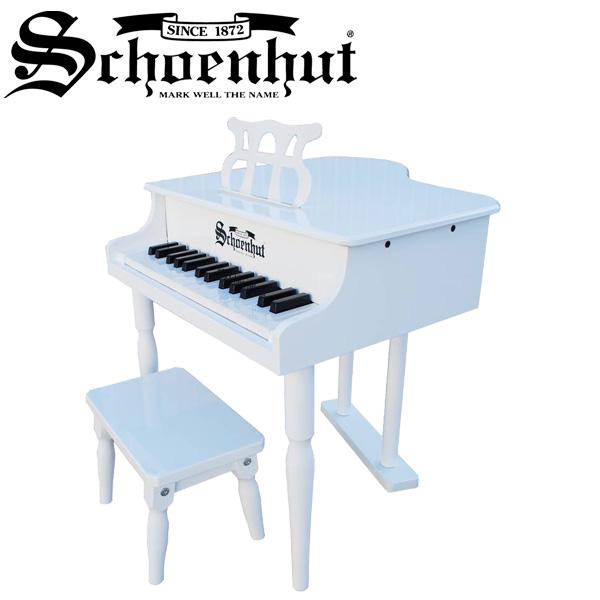Schoenhut(シェーンハット) / Classic baby Grand (White) ベンチ付き 30鍵盤 トイピアノ