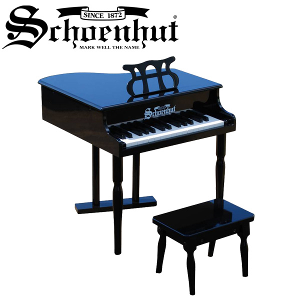 Schoenhut(シェーンハット) / Classic baby Grand (Black) ベンチ付き 30鍵盤 トイピアノ