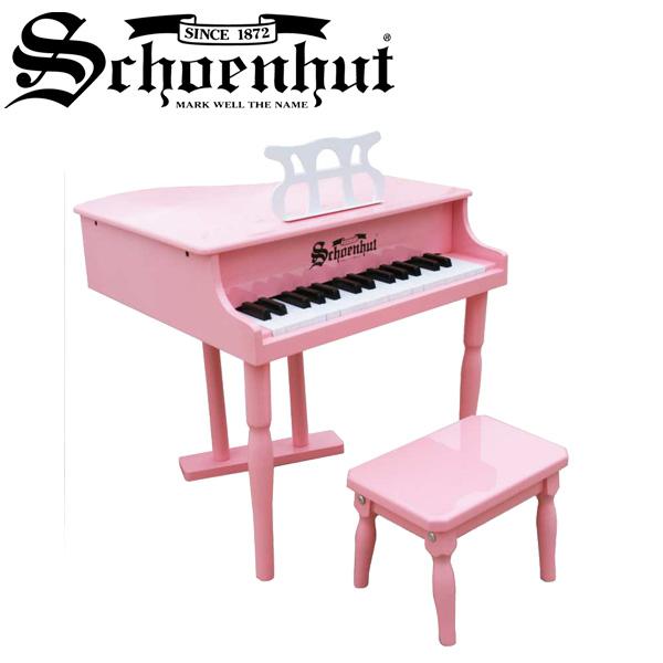Schoenhut(シェーンハット) / Classic baby Grand (Pink) ベンチ付き 30鍵盤 トイピアノ