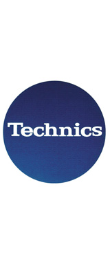Technics(テクニクス) / Slipmats (Blue / Logo White) - スリップマット (2枚/1ペア) -