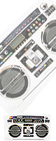 Lasonic (ラソニック) / i931X-WHITE  iPhone4・iPod対応−ラジカセ