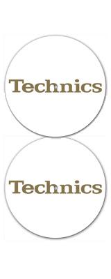 Technics(テクニクス) / Gold Foil Slipmat (White) - スリップマット (2枚/1ペア) -